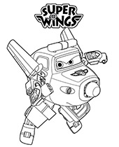 Trafik i logo Super Wings malowanka