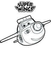 Trafik kolorowanki do wydrukowania z bajki Super Wings