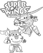 Super Wings Śmigu i Śrubek kolorowanki z samolotami
