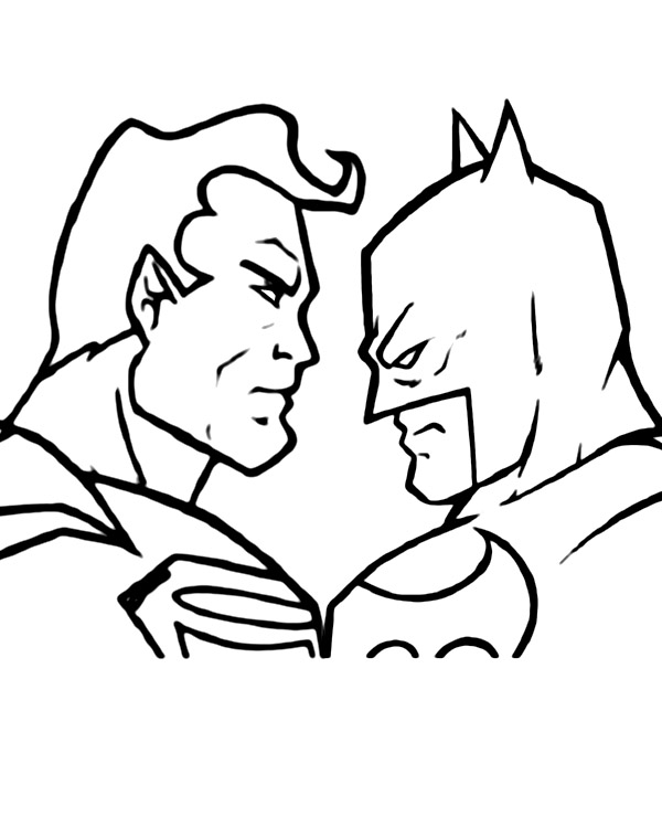 Superman I Batman Darmowa Malowanka Do Wydruku
