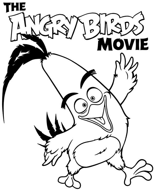 Darmowa Kolorowanka Z Ptakiem Filmu Angry Birds
