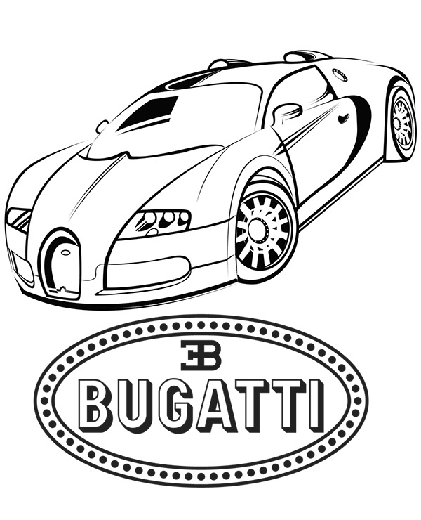 Samochd Sportowy Bugatti Veyron Kolorowanka Malowanka