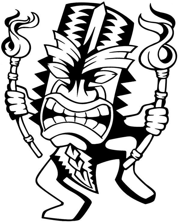Kolorowanka Ze Wzorem Tatuażu Hawajski Symbol
