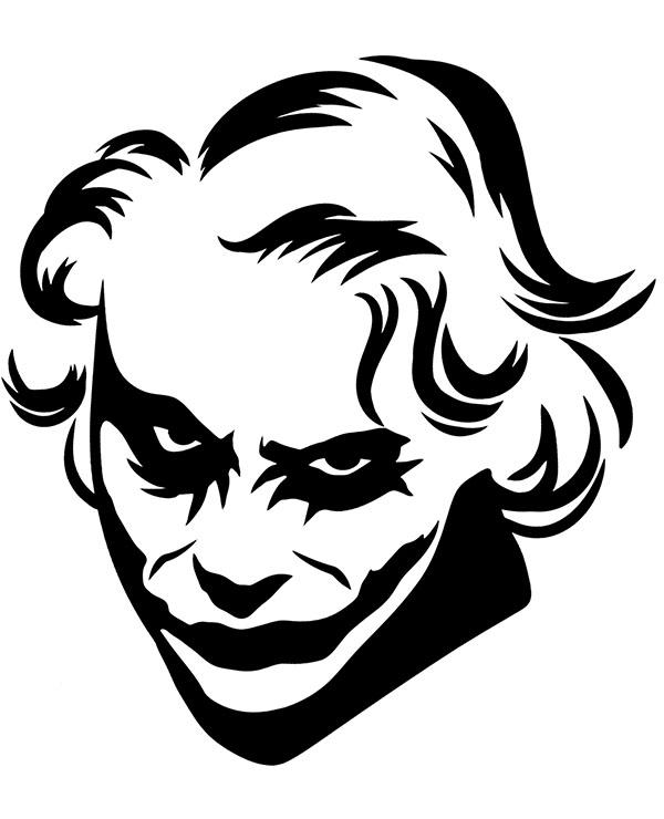 Kolorowanka Tatuaz Joker Kolorowanki Do Druku E Kolorowanki