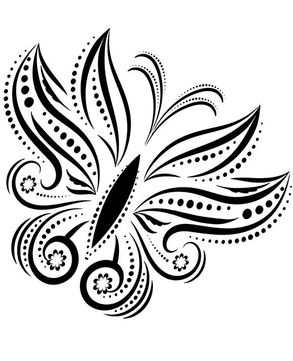 Motyl Na Tatuażu Kolorowanka Do Wydrukowania Dla Dorosłych