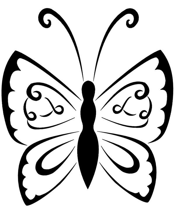 Szkic Tatuazu Z Motylem Do Wydruku Za Darmo