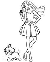 Darmowe Kolorowanki Do Wydruku Z Barbie I Kenem