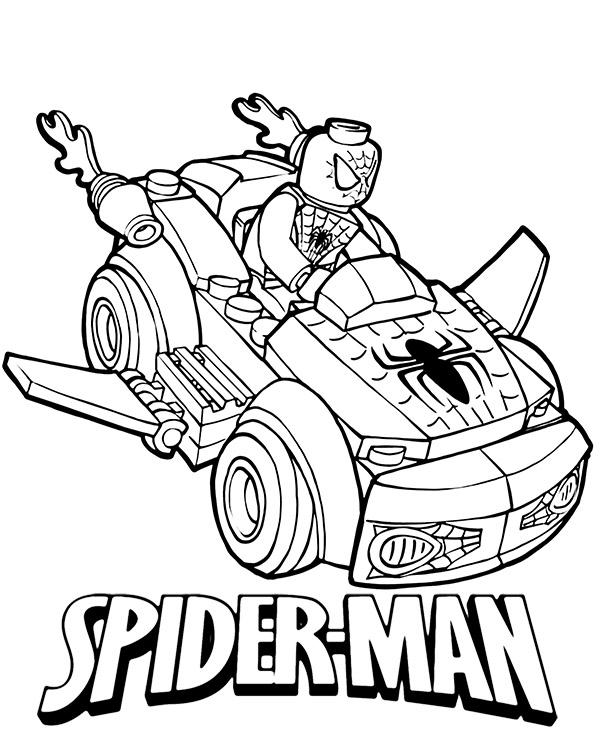 Pojazd Spidermana Z Klocków Lego Kolorowanka Malowanka