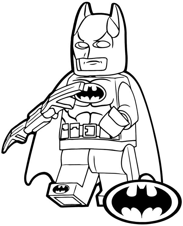 Kolorowanka Do Wydruku Z Batmanem Z Klockow Lego