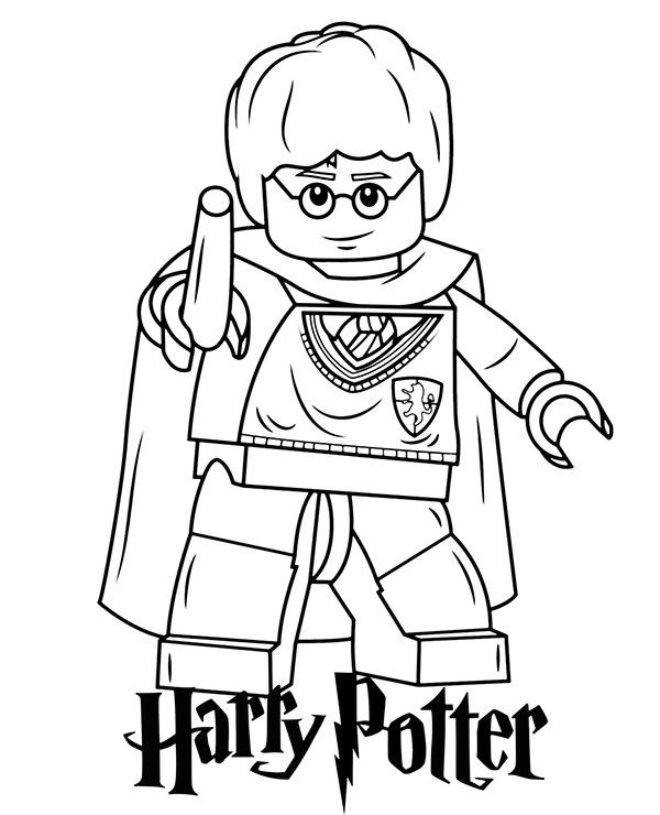 Darmowa Kolorowanka Z Harrym Potterem Z Klockow Lego
