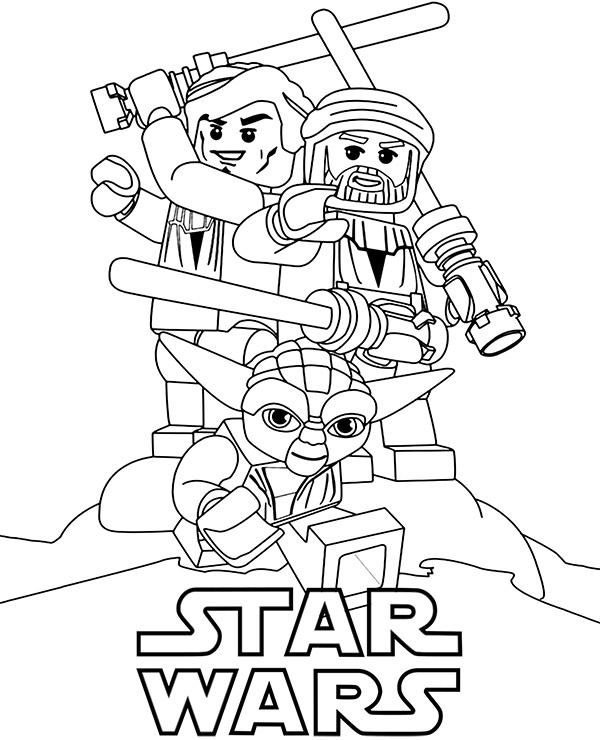 Kolorowanka Do Wydruku Ludziki Lego Gwiezdne Wojny