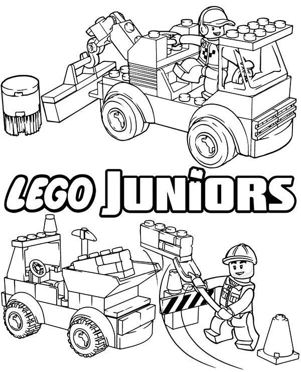 Lego Juniors Maszyny Budowlane Kolorowanka Kolorowanki Do Druku