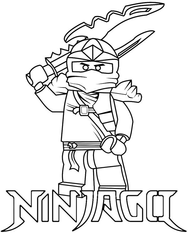 Wojownik Ninja Kolorowanka Do Wydrukowania