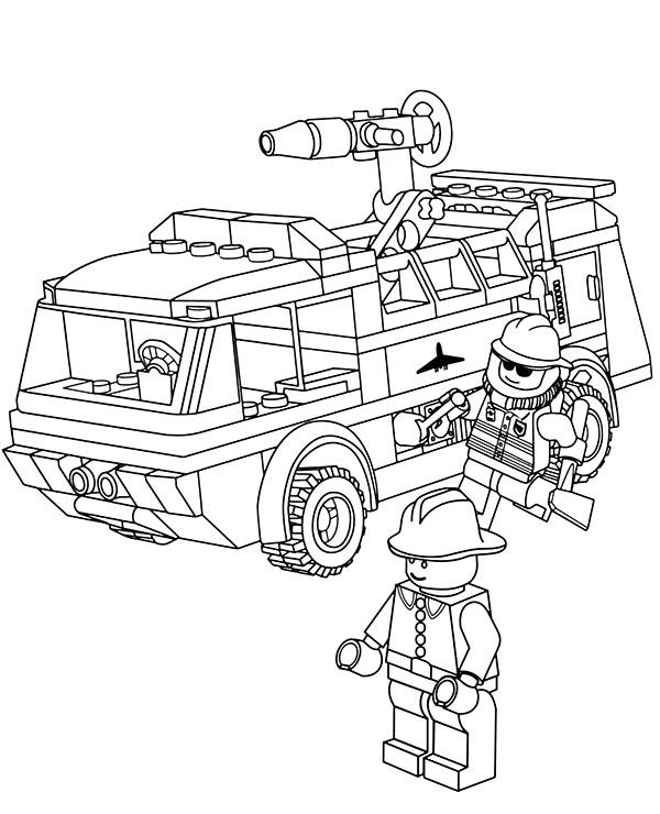 Straz Pozarna Kolorowanka Malowanka Dla Chlopcow Z Lego