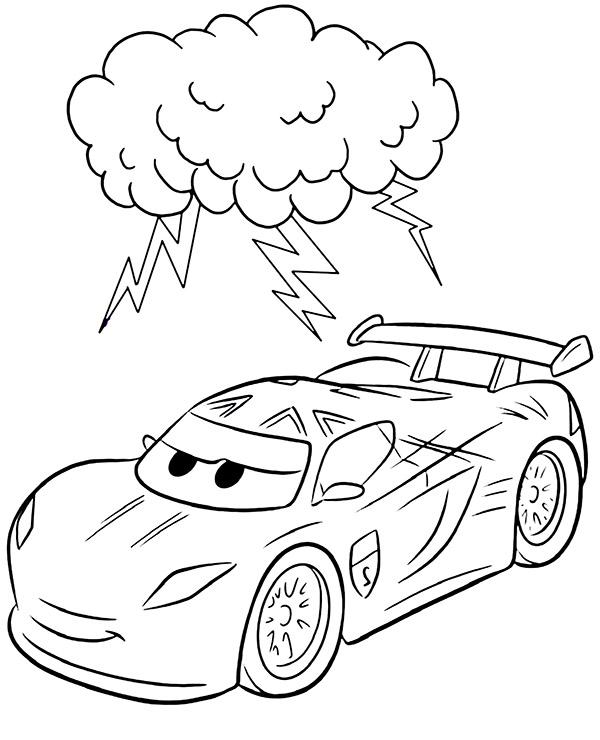 Kolorowanka Auta Cars Z Zygzakiem Pobierz Za Darmo