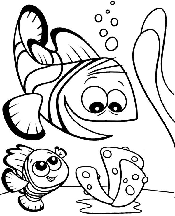 Latwa Bajkowa Kolorowanka Dla Dzieci Z Podwodnym Zyciem