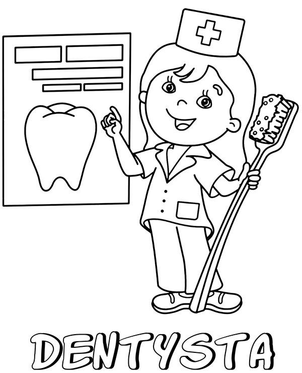 Bajkowa Kolorowanka Dentystka Do Wydrukowania