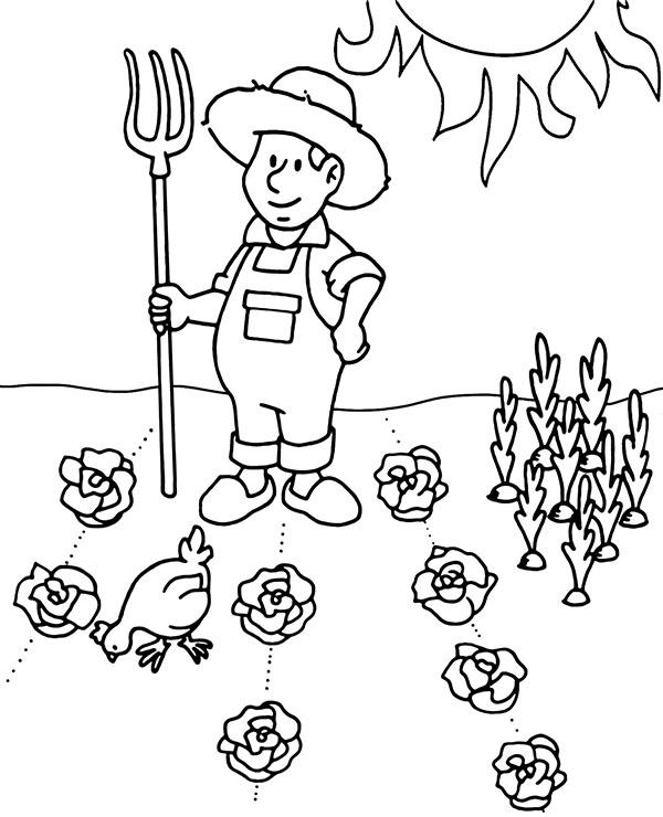 Kolorowanka Wiosna W Ogrodzie Kolorydladzieci