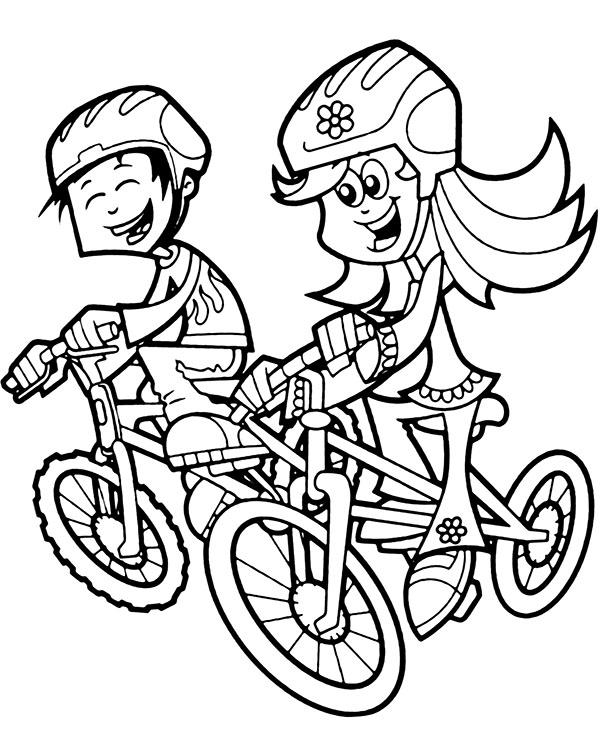 Rowery malowanka do wydruku dla dzieci bezpieczne obrazki