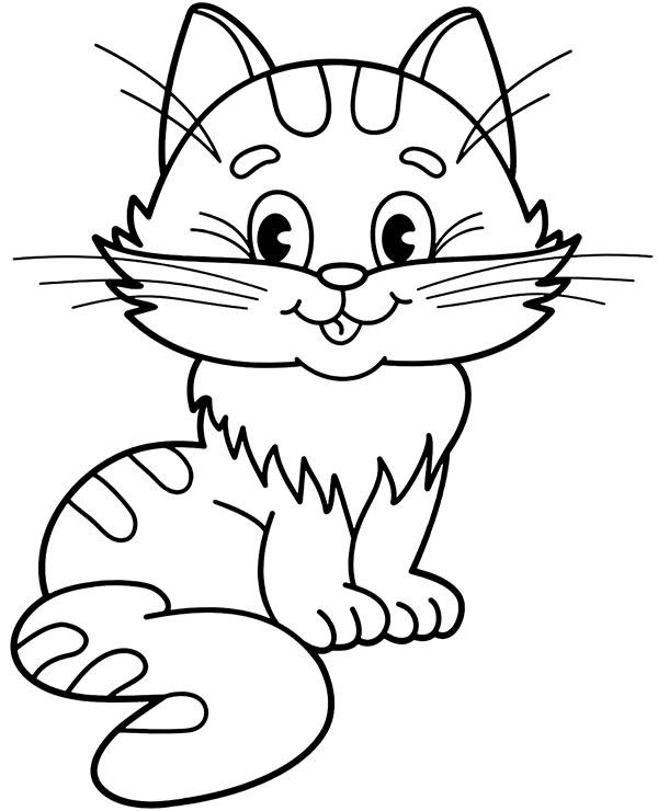 Kot Kolorowanka Do Pobrania Malowanka Z Kotkiem