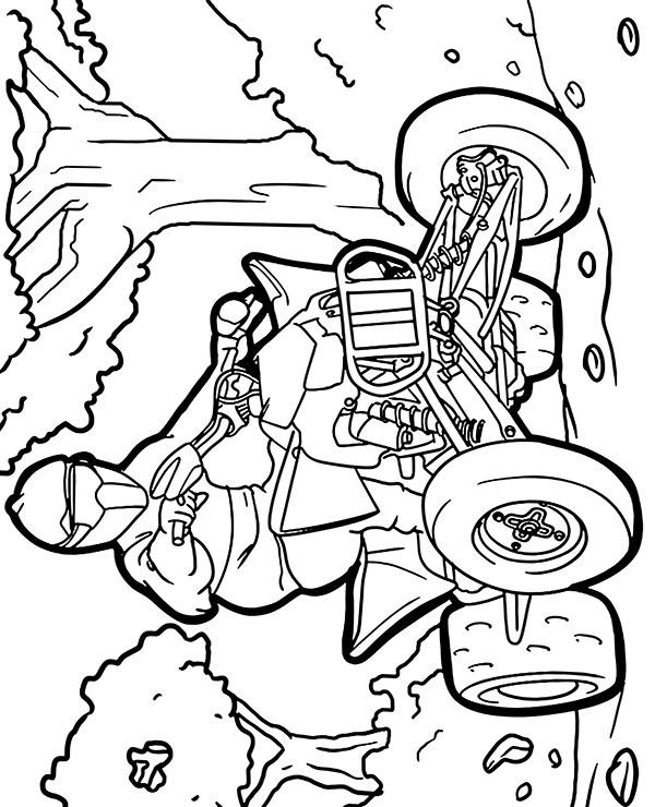 Kolorowanki Komiksy Do Druku Za Darmo Dla Dzieci I: Kolorowanki Dla Dzieci Jazda Na Quadzie Pobierz Za Darmo