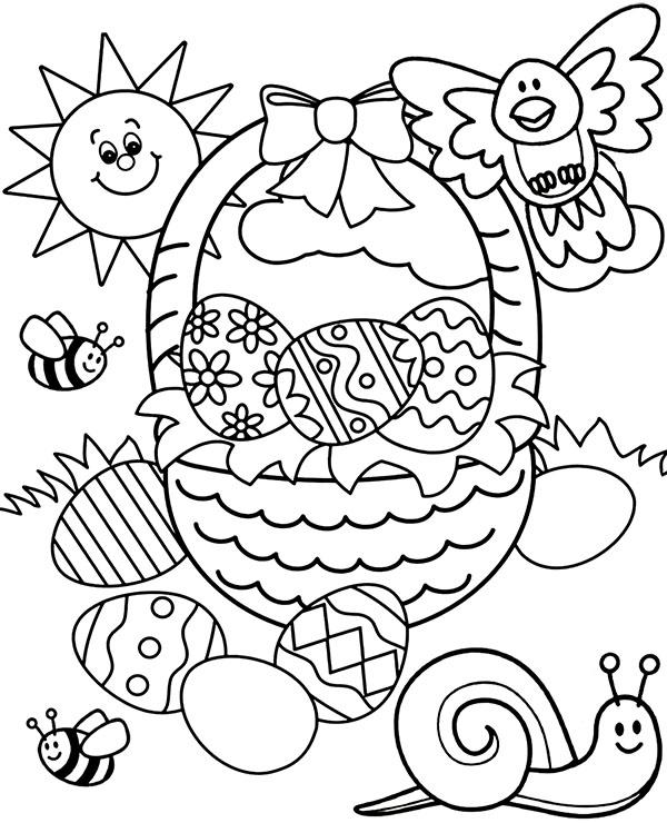Wielkanoc Kolorowanka Dla Dziecka Do Pobrania
