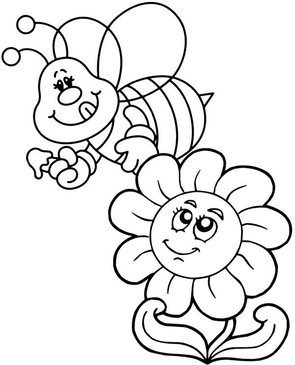 Latwe Kolorowanki Dla Dzieci Wiosenne