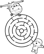Obrazek z labiryntem dla dziecka