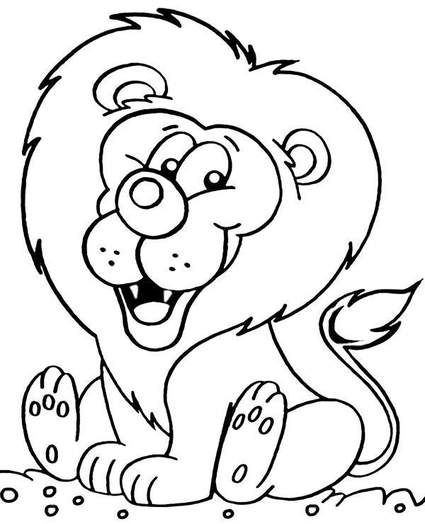 Darmowa kolorowanka lew dla dzieci