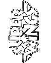 Kolorowanka z logo Super Wings