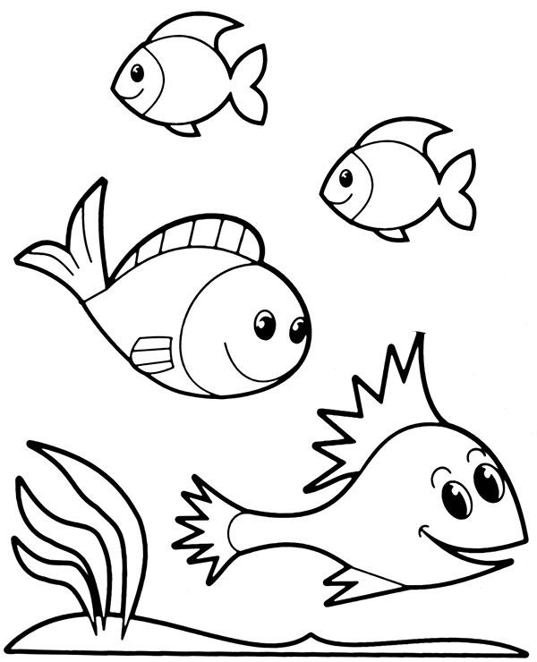 Kolorowanka Ryby W Wodzie Kolorowanka Dla Dziecka