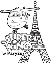 Kolorowanka Super Wings z Dżetkiem