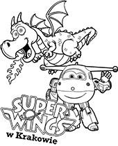 Dżetek i smok kolorowanka Super Wings do druku