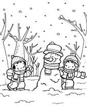 Zima Zimowe Kolorowanki Do Wydruku Lub Pobrania Pory Roku
