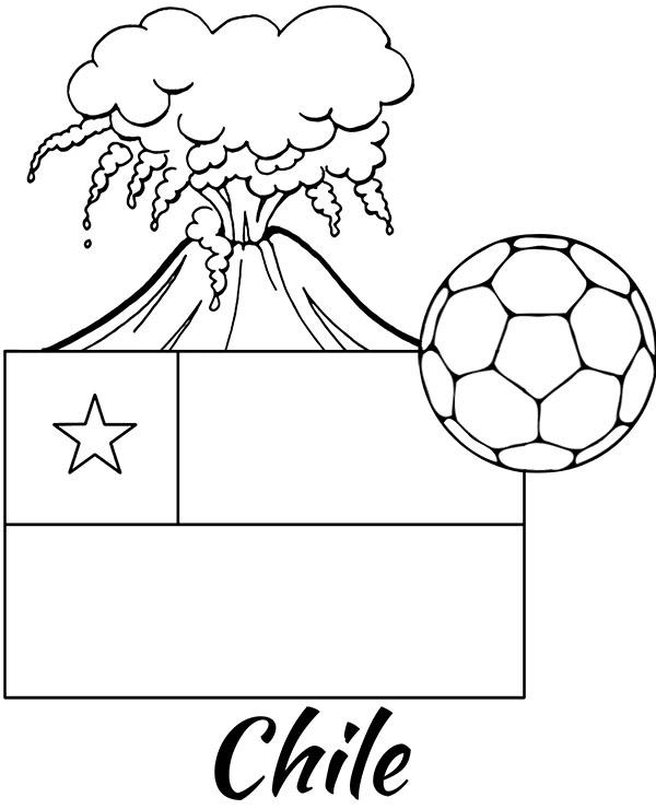 Flaga Chile Symbole Kolorowanki Edukacyjne Dla Dzieci