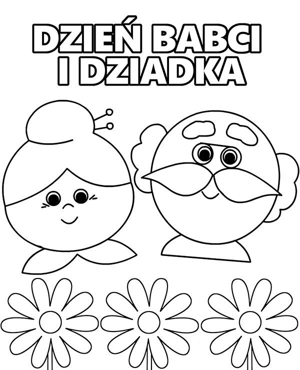 Dzien Dziadkow Kartka Do Druku Kolorowanki Okolicznosciowe