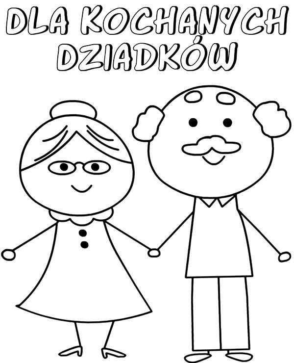 Dzien Babci I Dziadka Kartki Okolicznosciowe Kolorowanki