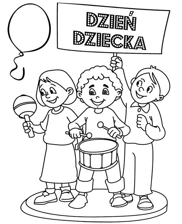 Kolorowanki Do Wydruku Dzien Dziecka Malowanka Laurka