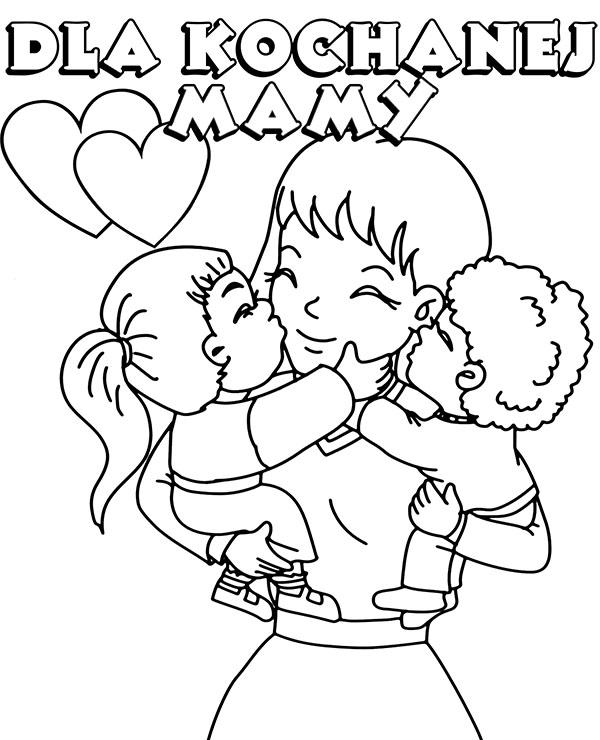 Dzien Matki Darmowa Kolorowanka Do Wydrukowania Laurka