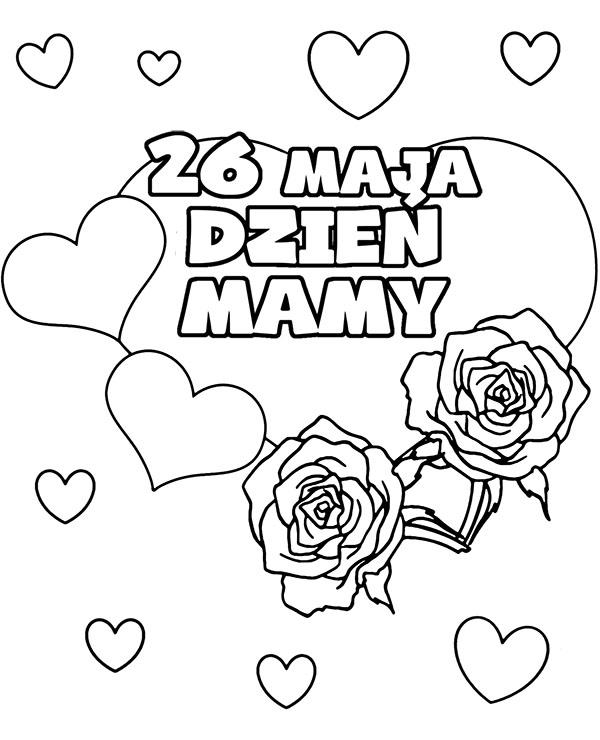 Najbardziej Poszukiwane Dzien Matki Kolorowanki Najlepsze