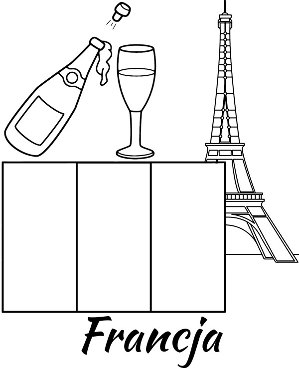 Francuska Flaga Francji Kolorowanka Edukacyjna Malowanka