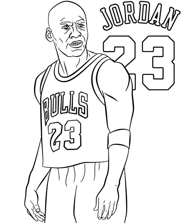 Kolorowanka Do Druku Michael Jordan Malowanki Koszykarze Nba