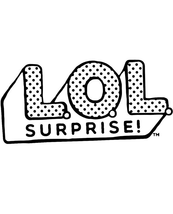 Kolorowanka logo LOL Surprise