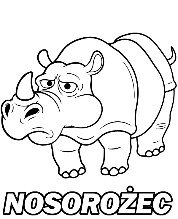 Zabawny hipopotam kolorowanka do wydruku