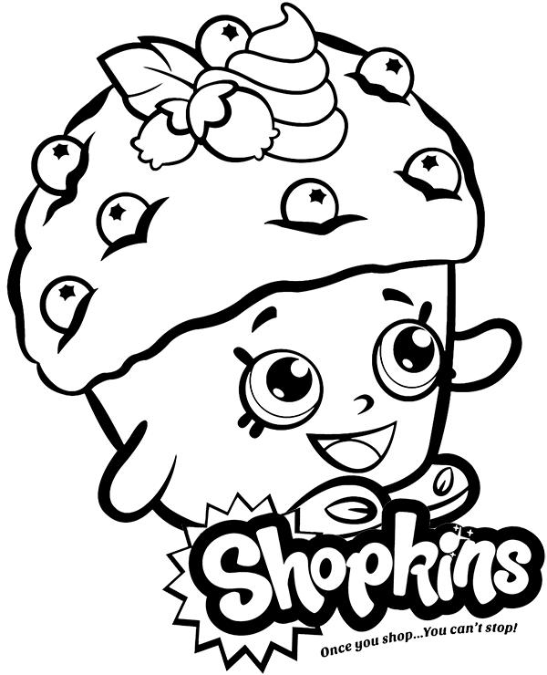 Darmowa Kolorowanka Shopkins Mini Muffin