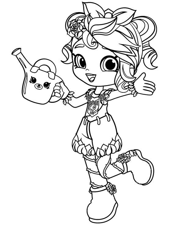 Shoppies Rosie Bloom Shopkins Coloring Page Kolorowanki Do Druku