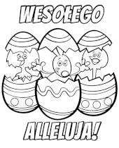Wielkanocne kolorowanki do wydruku, kartki na Wielkanoc