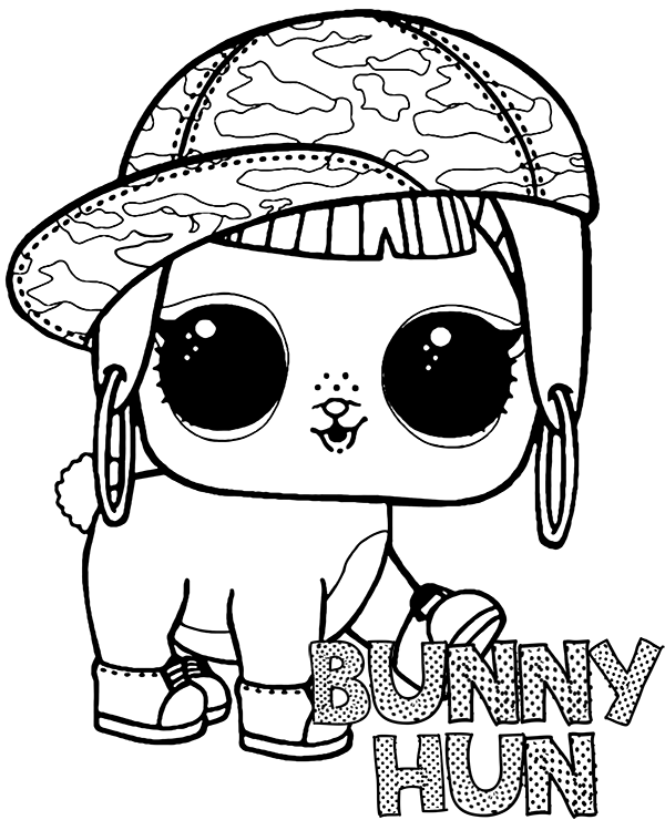 L O L Surprise Kolorowanka Piesek Bunny Hun