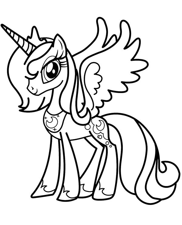 Jednorozec Pony Kolorowanka Do Druku Kolorowanki Do Druku E