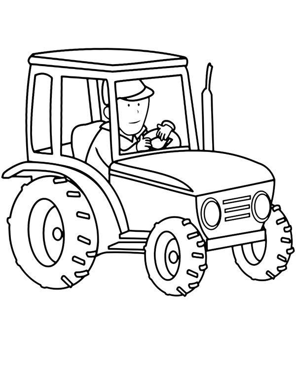 Kolorowanka Traktor Do Wydrukowania E Kolorowanki Eu